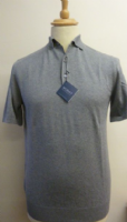 Cotton / Silk / Cashmere Blend Polo Shirt by Moray -Thunder - HDA17-373M